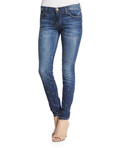 288Currentelliott The Ankle Skinny Jeans Gold Nwt StandardBleu27 DE2H9I