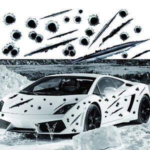 3D-Agujeros-de-Bala-Pegatina-de-coche-rayar-Calcomania-Pegatinas-De-Moto-Impermeable-Negro