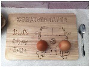 Personalised Wooden VW V Dub Camper Van Dippy Boiled Egg /& Soldiers Board