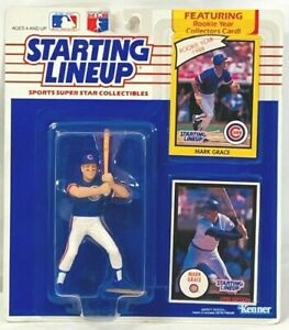 ⚾️ 1990 STARTING LINEUP - SLU - MLB - MARK GRACE - CHICAGO CUBS (BATTING) - 3
