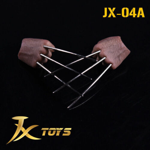 """JXtoys 1//6th JX04A Metal Bloody Claw Hands F 12/"""" Wolverine ZC Toys Figure Body"""