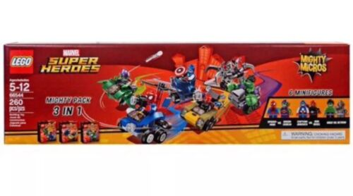 New Lego 66544 Marvel Super Heroes Mighty Pack 3 in 1 Box Set 76064 76065 76066