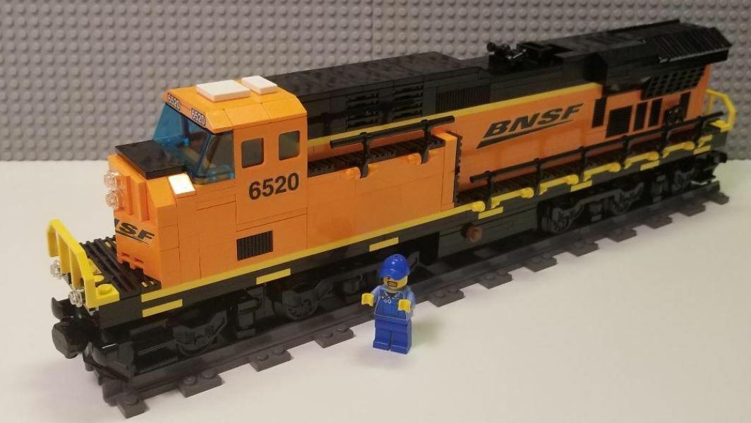 Lego Tåg Egen BNSF ES44ac - Läs BESKRIVNING AV POSTER