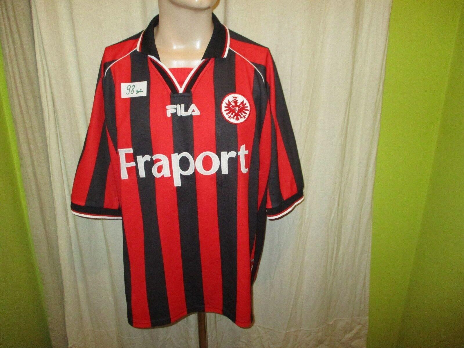 Eintracht Frankfurt Fila Heim Trikot Aufstieg Saison 2001 02  FRAPORT  Gr.XXL