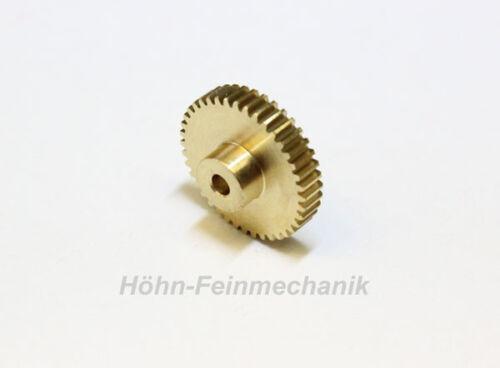 Stirnzahnrad 40 Zähne Modul 0,5 aus Messing Zahnrad 4mm Zahnbreite