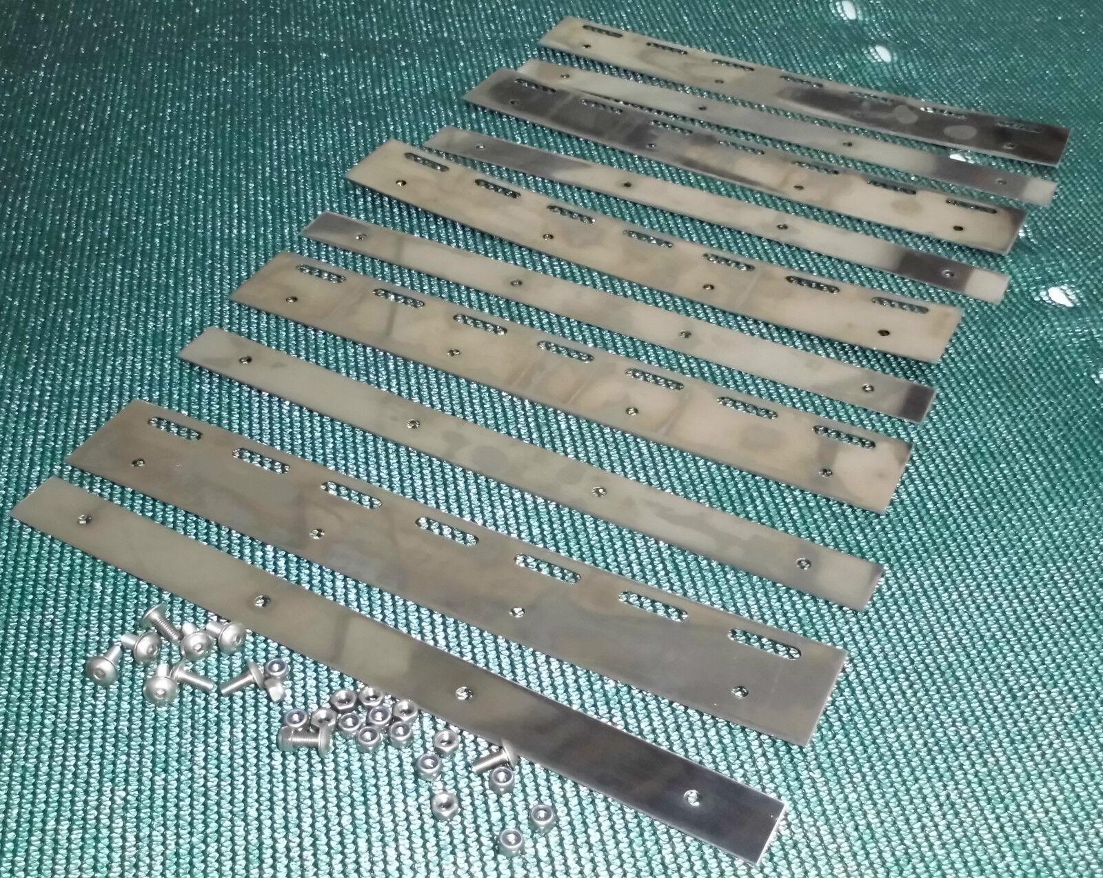 15 St. sustituto befestigunsplatten pendelplatten para PVC-cortina de lamas 30 cm