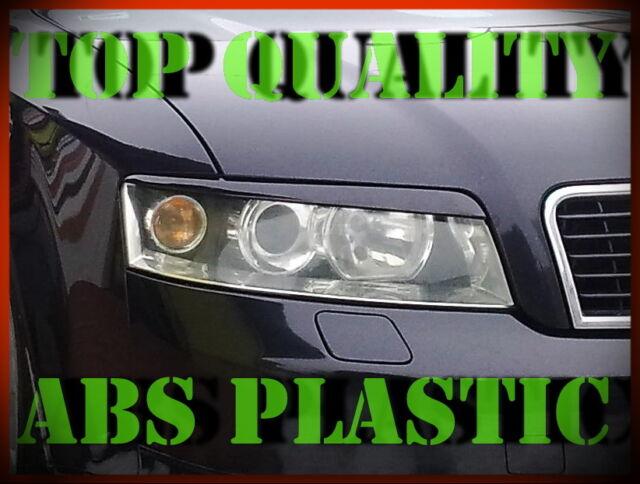 AUDI A4 B6 2000-2004 HEADLIGHT BROWS EYELIDS EYEBROWS ABS PLASTIC TRIMS TUNING