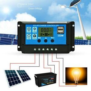 PWM-10-20-30A-Solar-Charge-Controller-12V-24V-LCD-Display-Dual-USB-Solar-Panel