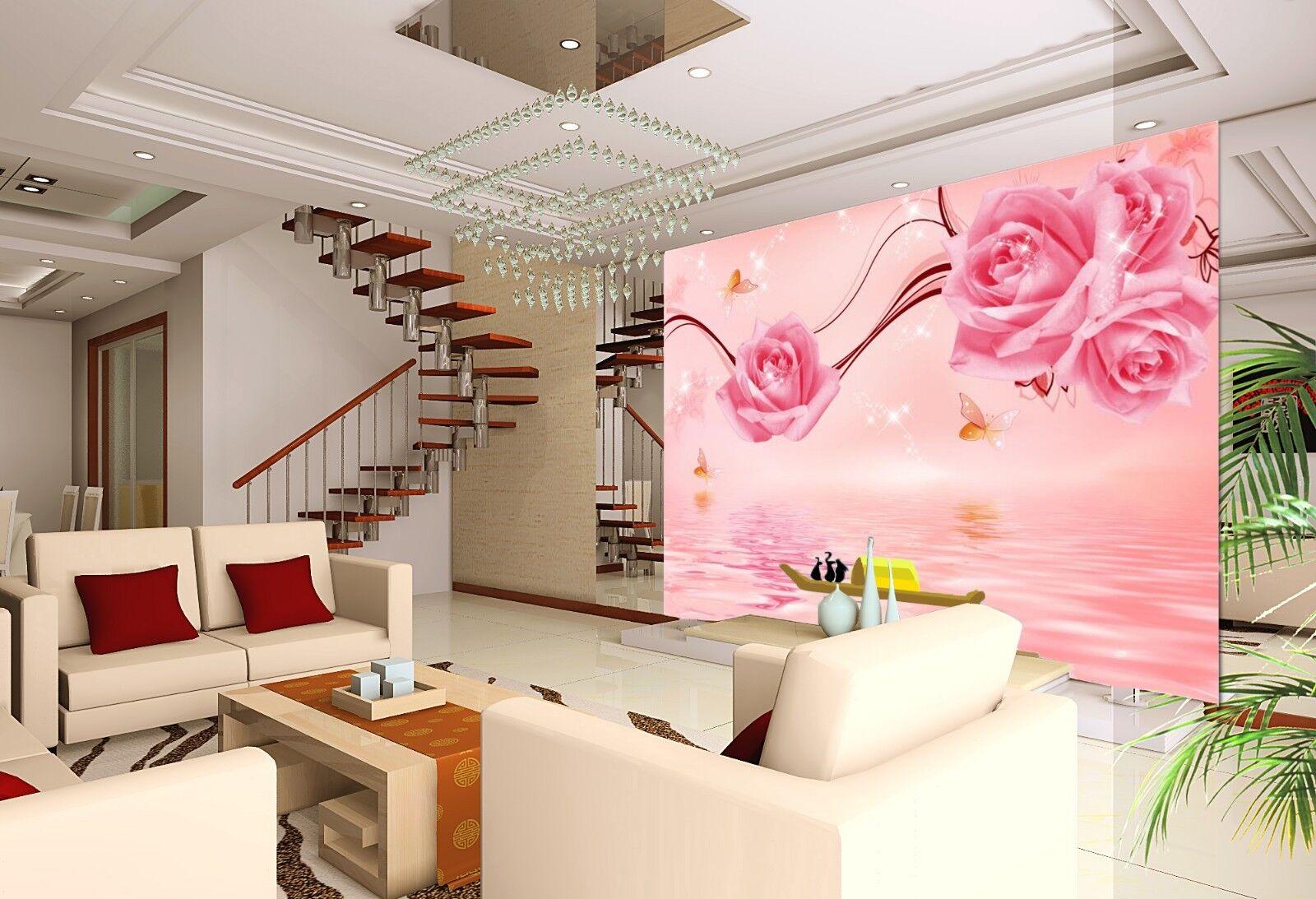 3D Butterfly Flower 87 Wallpaper Mural Wall Print Wall Wallpaper Murals US Carly