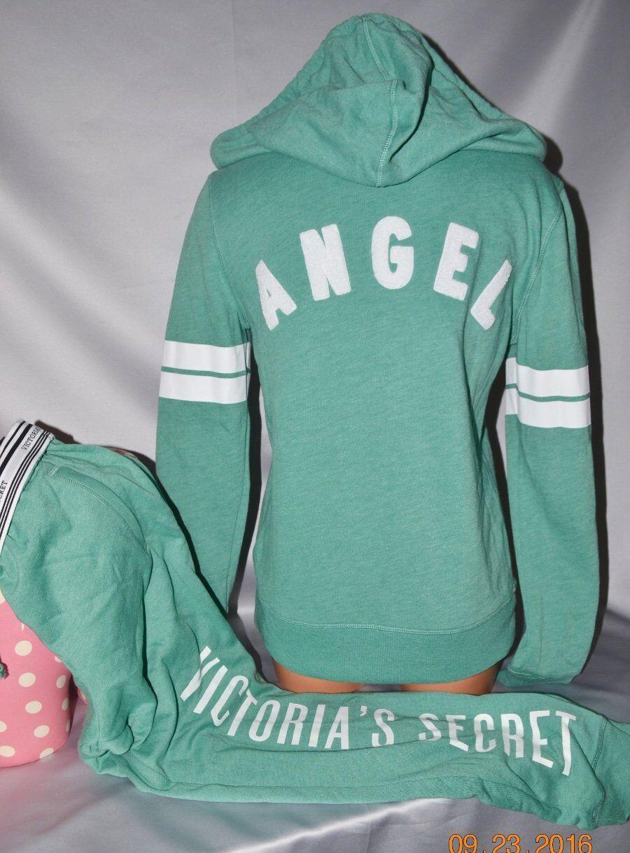 Victorias Secret Supermodel Essentials Angel Hoodie & Jogger Sweat Pants NWT XS