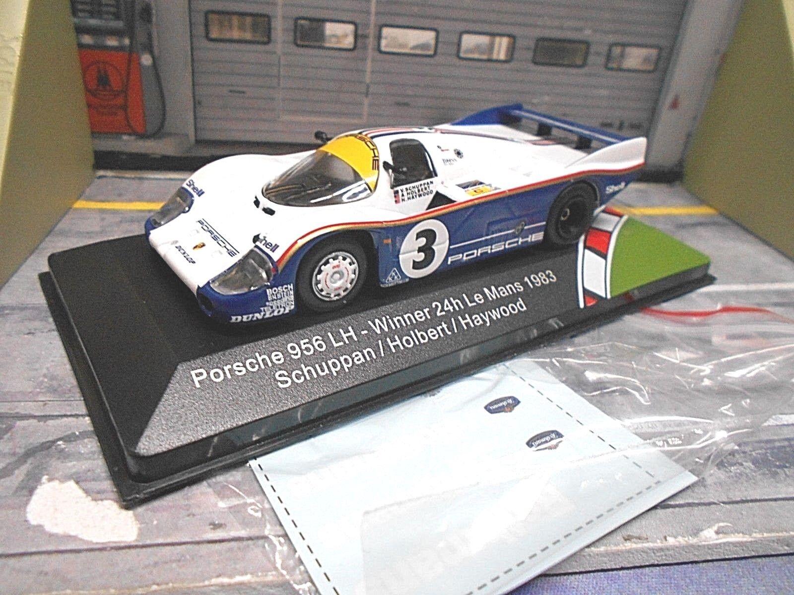 PORSCHE 956C 956 C Le Mans 1983 Winner Holbert Haywood Sch redhman IXO 1 43