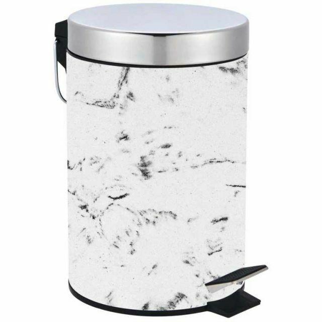 Blue Canyon Madison Marble Effect Bathroom Pedal Bin [8459] CLEARANCE WIGIG