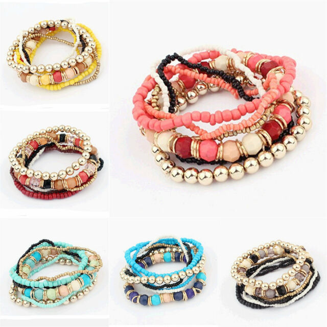 New Charming Handmade Multilayer Colour Mixture Bracelets Pretty Jewelry Hot