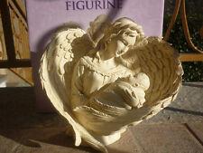 DELUXE ANGELO CUSTODE ARCANGELO MADONNA Gesù bambino anima soprammobile STATUA