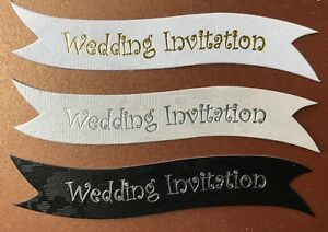 Details About Wedding Invitation Banners Card Toppers Make Your Own Invitations