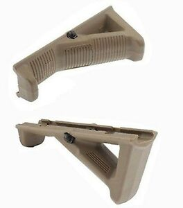 Hunting Angled Foregrip Hand Guard Front Grip for Picatinny Quad Rail Tan