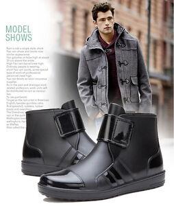 Details about Men\u0027s Rain Boots Ankle Boots Fashion Water Shoes New Style  Rain Shoes Galoshoes
