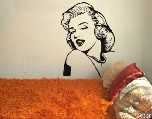Mural Marilyn Monroe uss310 salon chambre film cinéma couloir salle de bain