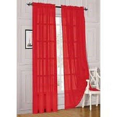 1pc sheer voile panel drape curtain window treatment scarf valance so may colors