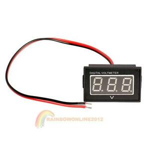 Waterproof-3-0-to-30V-Blue-LED-Panel-Meter-DC-Digital-Voltmeter-Two-wire-NEW