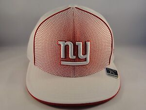 2288efb5032 NFL New York Giants Reebok Size 7 3 8 Fitted Hat Cap White Red