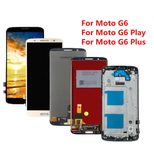 LCD Touch Screen Digitizer +Frame Assembly for Motorola Moto G6 G6 Plus G6 Play