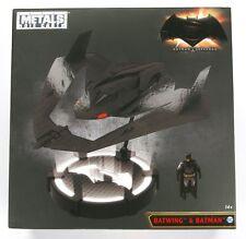 IN STOCK! Jada Batman V Superman Batwing w/DieCast Batman & Light Up Stand
