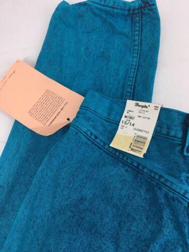 Blue Jeans Wash Vtg Wa Nwt Lake 13 Wrangler Neon Hi Blue Silver 14 Acid al Nuovo qq4Uwza