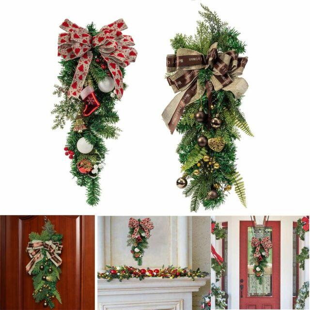 Christmas Wreath Door Wall Hanging Garland Ornament Xmas Home Holiday Decoration