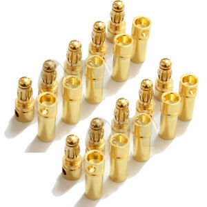 40 Pairs 3.5mm Gold Bullet Connector Plug Male /& Female for RC Battery ESC Motor