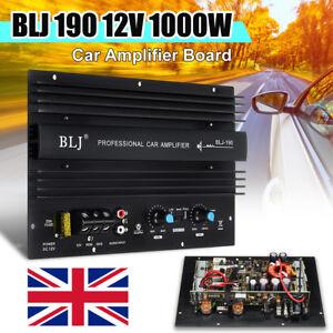 BLJ 12V 1000W Mono Car Audio High Power Amplifier Amp Powerful Bass Subwoofer