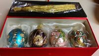 Joan Rivers Christmas Eggs W/tree Stand Set Of 4 Classics Collection 2009