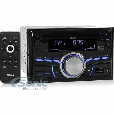 Clarion CX305 Double DIN Bluetooth CD Car Stereo Receiver w/ USB/Aux Inputs