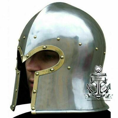 Medieval Barbute Helmet Armour Roman knight Halloween spartan Handmade Style