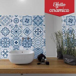 PUV0034 Adesivi in PVC effetto ceramica per piastrelle per bagno e ...