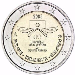 Belgien-2-Euro-Muenze-Menschenrechte-2008-Gedenkmuenze-bankfrisch