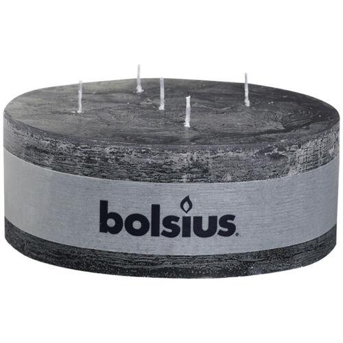 2 Rustik Stumpen Kerzen 70x185 mm 5 Docht Bolsius Mehrdocht verschiedene Farben