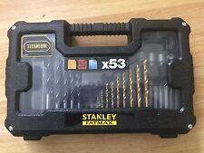 Stanley FatMax 53 Piece Titanium Drill and Screwdriver Bit set in Case
