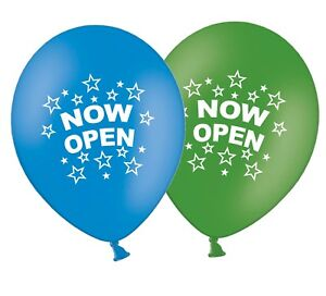 Now-Open-12-034-Printed-Latex-Assorted-Balloons-New-Shop-Store-Business-Pack-of-25