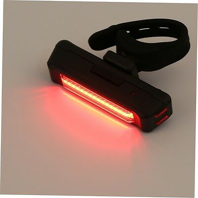 USB Rechargeable Bike Bicycle Light Rear Back Safety Tail Light Red New BH