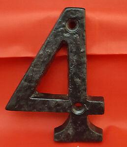 HEAVY BLACK ANTIQUE IRON HOUSE DOOR NUMBERS NUMERALS