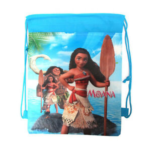 Moana Cartoon Bag Non-woven Drawstring Backpack Baby Kids Drawstring School Bag