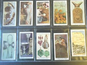 1937-Churchman-TREASURE-TROVE-archaeology-dig-set-of-50-Tobacco-Cigarette-cards