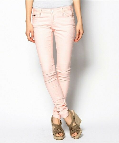NEW Hilfiger Denim skinny jeans Natalie, Tropical Peach Size W25 L32 RRP
