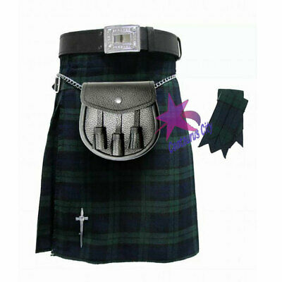 Cc Schottisch Herren Kilt Traditionell Highland Kleid Rock 8 Yards /