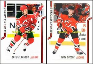 2x-SCORE-2011-DAVID-CLARKSON-280-NY-DEVILS-ANDY-GREENE-286-MINT-GLOSSY-LOT