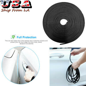 5M 16Ft ECLEAR Moulding Anti Scratch Rubber Strip Guard Cover For Universal Vehicle SUV,Gray Car Edge Door Trim Seal Protector