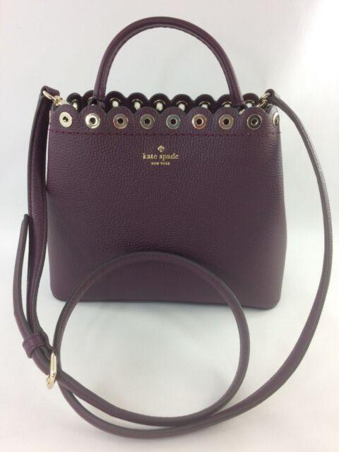 7f3b10034ccb New Authentic Kate Spade Mini Janell Paloma Road Handbag Purse Deep Plum