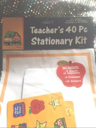 LOT OF 2 Teacher//Student Appreciation Stationary Kit Thank You Stickers NEW