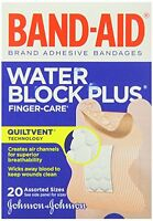 4 Pack - Band-aid Bandages Finger-care Water Block Plus Assorted Sizes 20 Each on sale